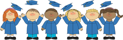 clipart of graduates in gown