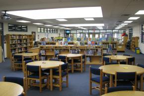Groveton's Library desks